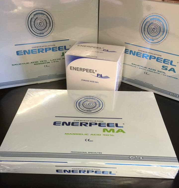 Tocolo products: Enerpeel (MA, SA & PA) chemical peel